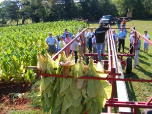 Darrel & Becky Jackson own and operate a productive tobacco farm in Henry County.